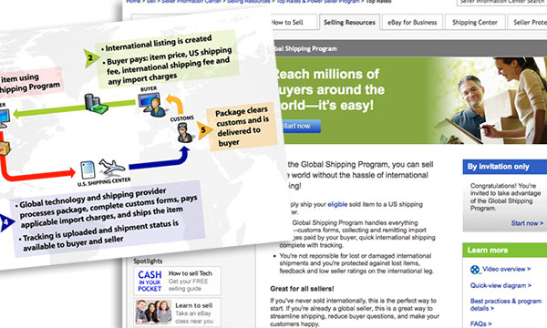 eBay VGlobal Shipping program launch site